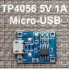 Модуль TP4056 для Li-ion Контроллер 4.2V Micro-USB код 18646