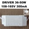 Драйвер светильника 36-50W 280-300mA (корпус, разъем) код 18666